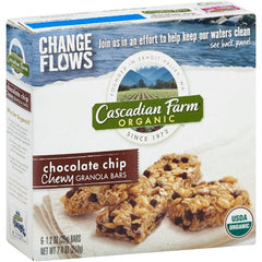 Cascadian Farm Organic Chocolate Chip Chewy Granola Bars, 7.4 oz, (Pack of 12)