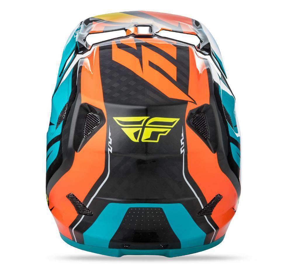 Fly Racing Helm Werx Mips Rival MTB/BMX teal-orange-schwarz