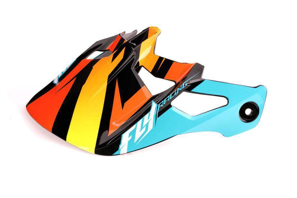 Fly Racing Helmschild Mips Rival teal-orange-schwarz