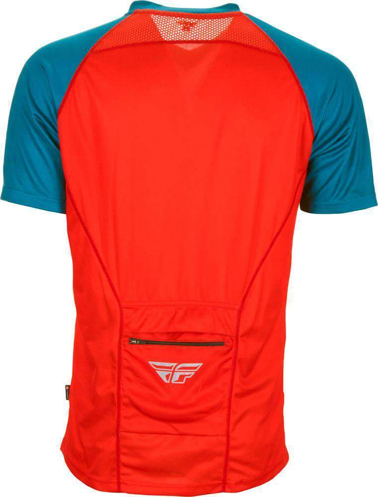 Fly Racing Hemd Action Elite MTB/BMX rot-teal