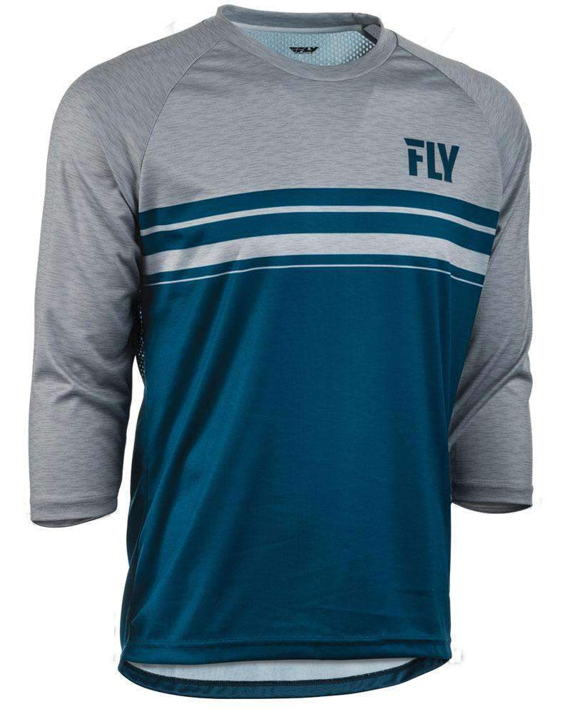 Fly Racing Hemd Ripa 3/4 navy-heather-grau