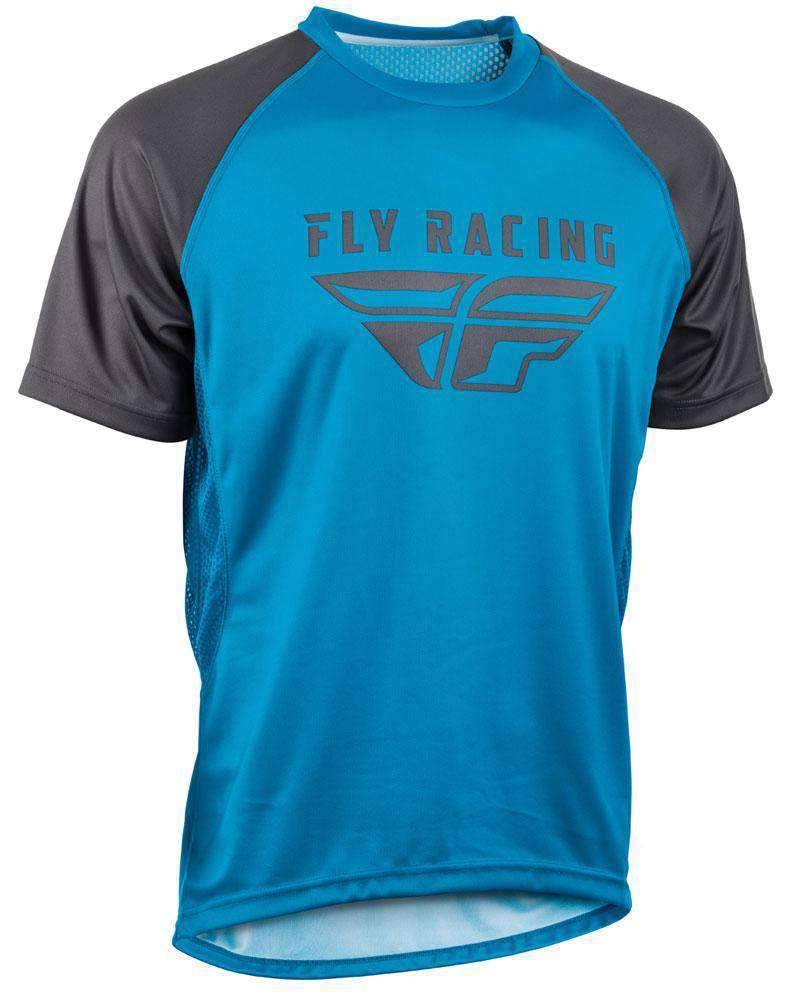 Fly Racing Hemd Super D blau-charcoal-grau