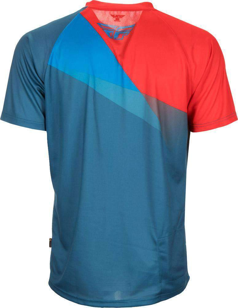 Fly Racing Hemd Super D MTB/BMX teal-blau-rot
