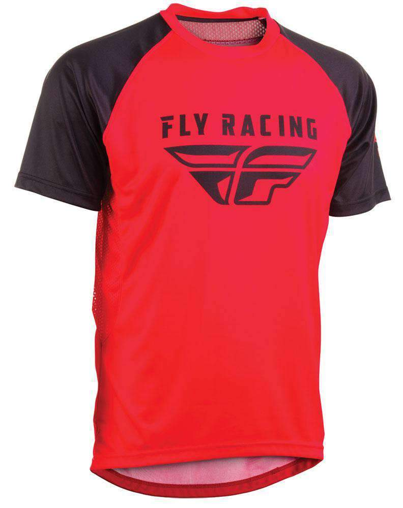 Fly Racing Hemd Super D rot-schwarz