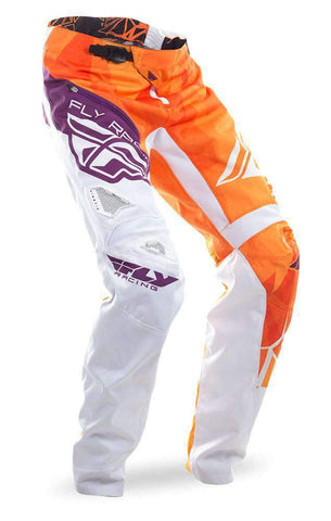 Fly Racing Kinetic Crux Hose Kids BMX/MTB orange-weiss-burgund
