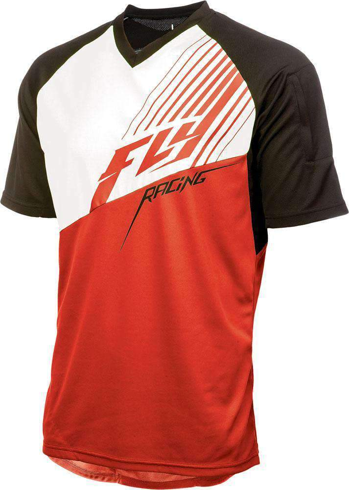 Fly Racing Shirt Action Elite rot-weiß