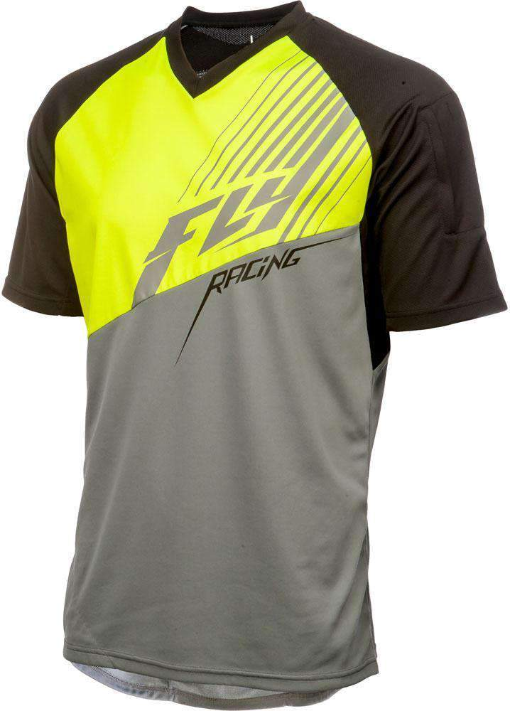 Fly Racing Shirt Action Elite sw-grau-neon