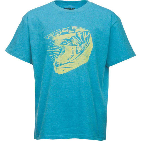 Fly Racing T-Shirt Head Case Kids blau