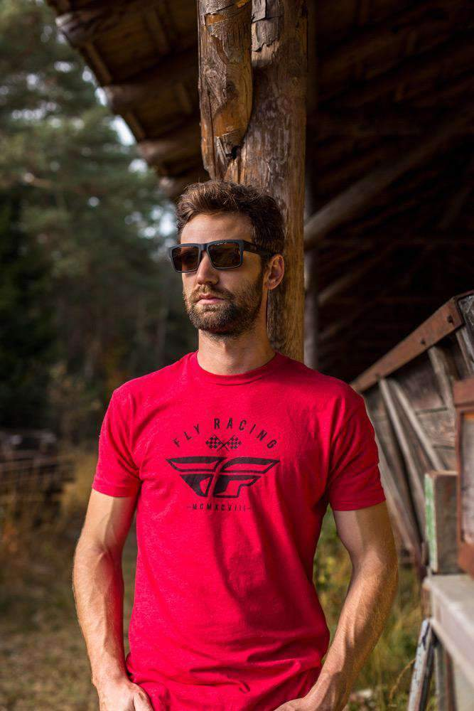 Fly Racing T-Shirt Patriarch rot