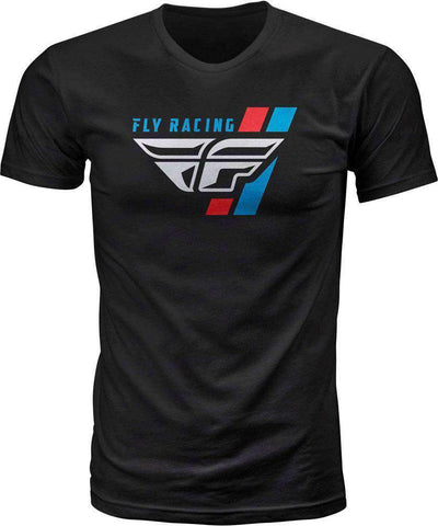 Fly Racing T-Shirt Retro schwarz