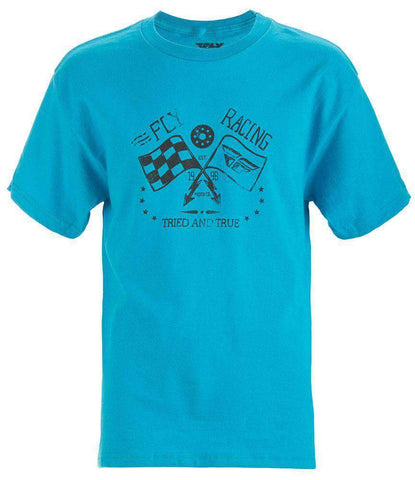 Fly Racing T-Shirt Tried & True Kids türkis