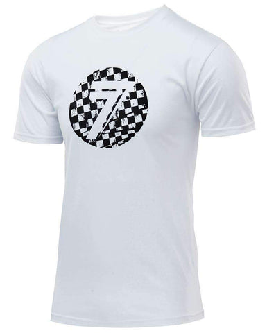 Seven T-Shirt Kinder Dot white checkmate
