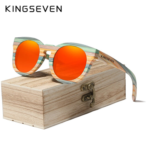 KINGSEVEN Handmade Bamboo Sunglasses Polarized