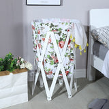 Foldable Waterproof Clothes Storage Baskets Multi-function Home Bedroom Wooden Frame Toy Basket Living Room Storage Organization