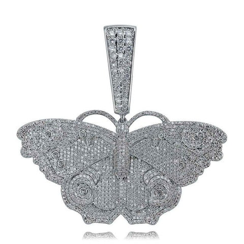 Temple Gold or Silver  Butterfly Pendant