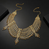 African Muslim Islamic Jewelry Turkish Middle East Big Allah Necklace Gold Color Arab Persia Dubai Birthday Women Gifts