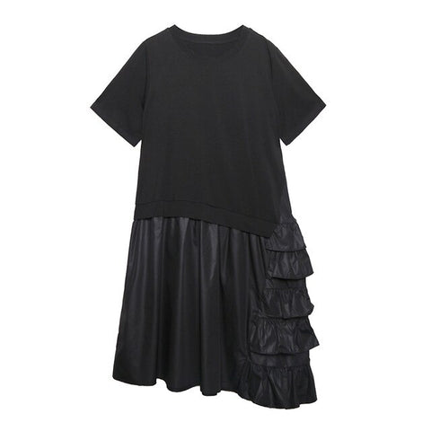 Women Pullover Elegant 2020 Summer Black Dress