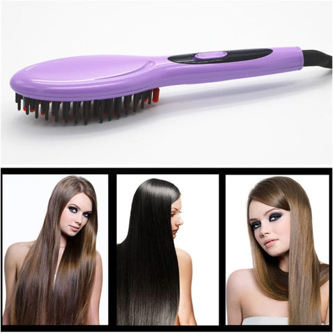 Image of ELECTRIC HAIR STRAIGHTENER BRUSH