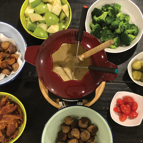 Sourdough overload? Bust out the fondue pot!
