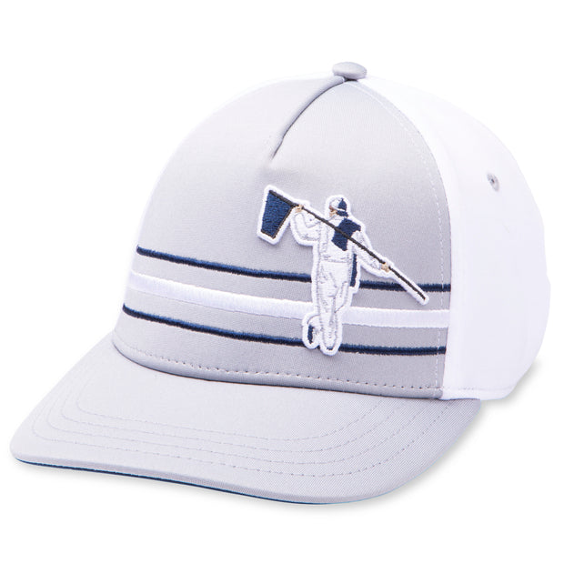 BEACH FITTED HAT - STEEL/WHITE/NAVY
