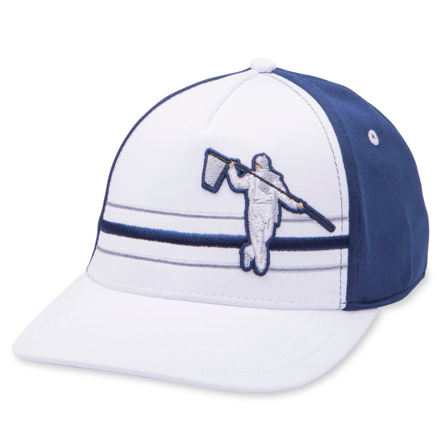 BEACH FITTED HAT - WHITE/NAVY/STEEL