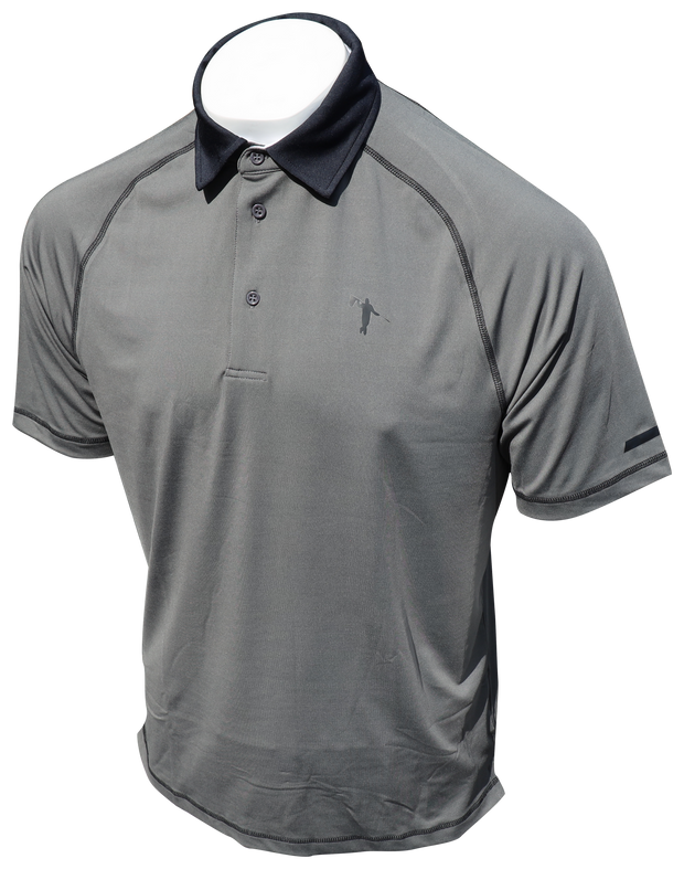 LOOPER VINTAGE POLO - CHARCOAL/BLACK