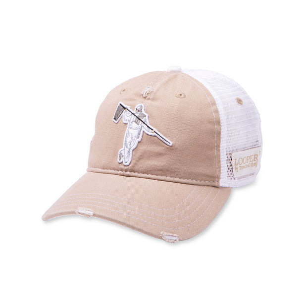 STREET ADJUSTABLE TRUCKER - KHAKI/WHITE