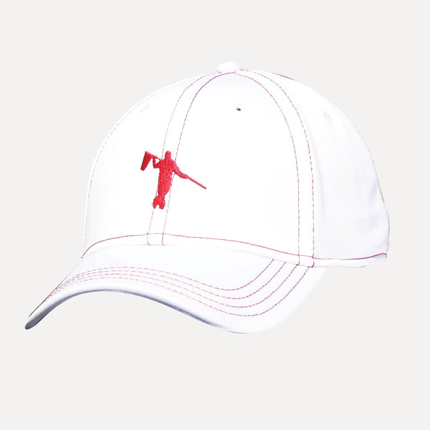 NATION FITTED LOOPER - WHITE/RED