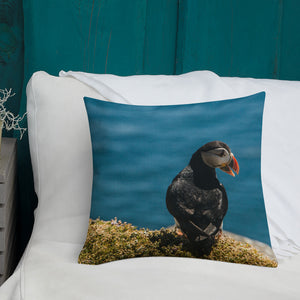 Summer Puffin - Premium Pillow