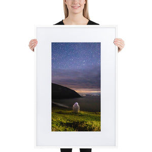 Starry Stone - Matte Paper Framed Poster With Mat