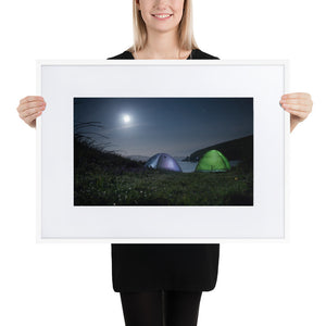 Bay Camping - Matte Paper Framed Poster With Mat