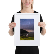 Load image into Gallery viewer, Starry Stone - Matte Paper Framed Poster With Mat