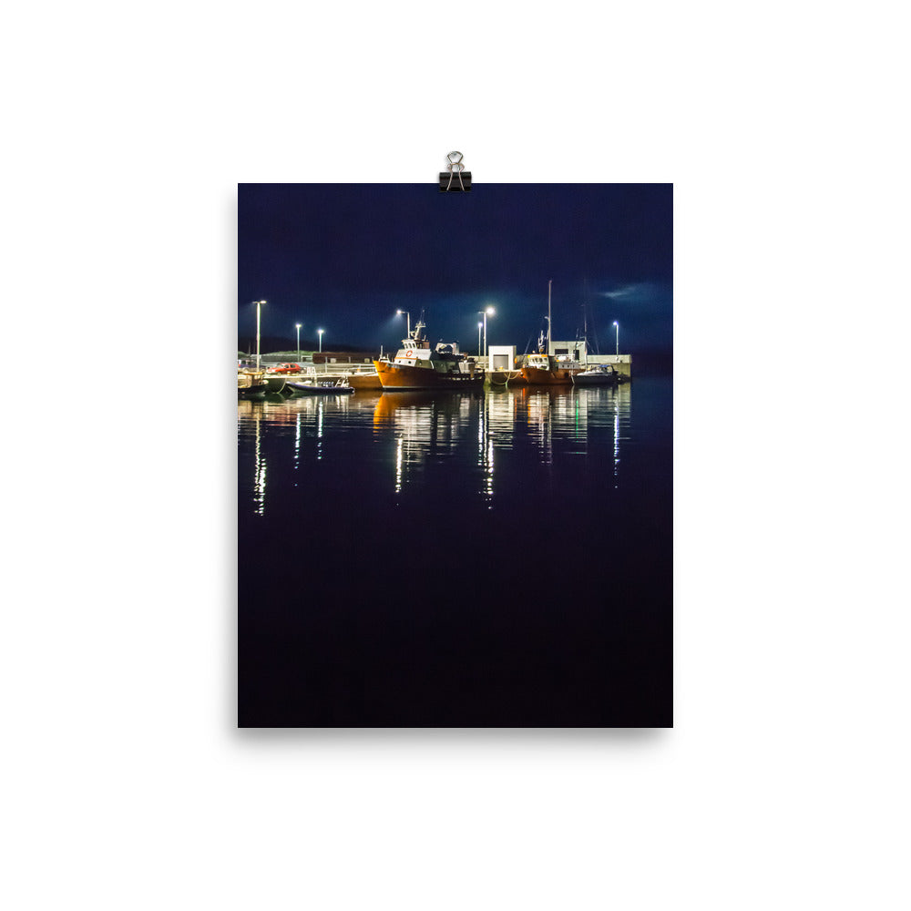 Night Harbor - Photo paper poster