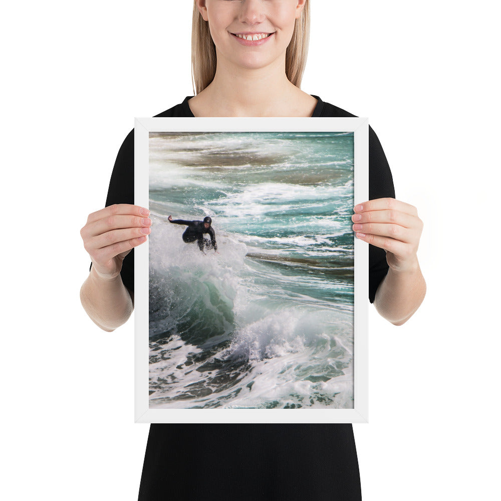 Kerry Surfer - Framed photo paper poster