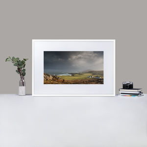 Northern Mist - Matte Paper Framed Poster With Mat