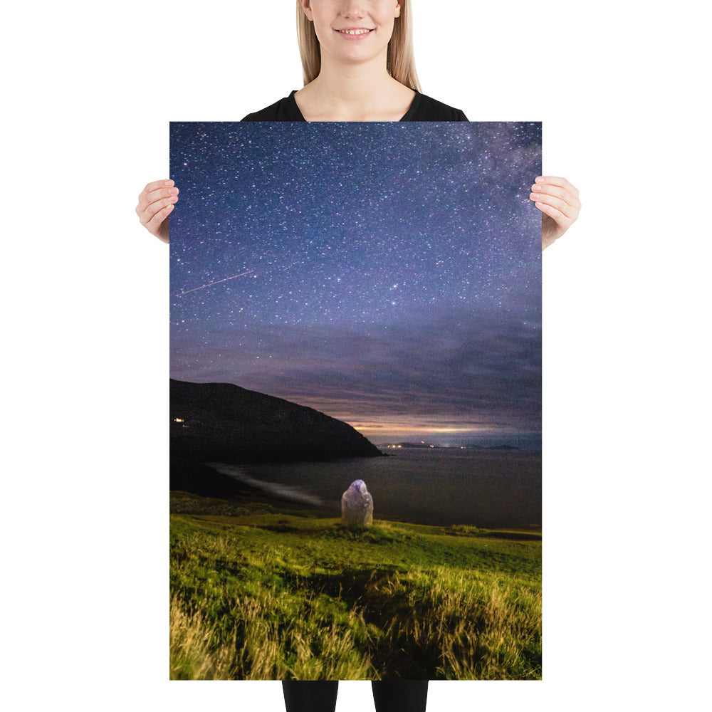 Starry Stone - Photo paper poster