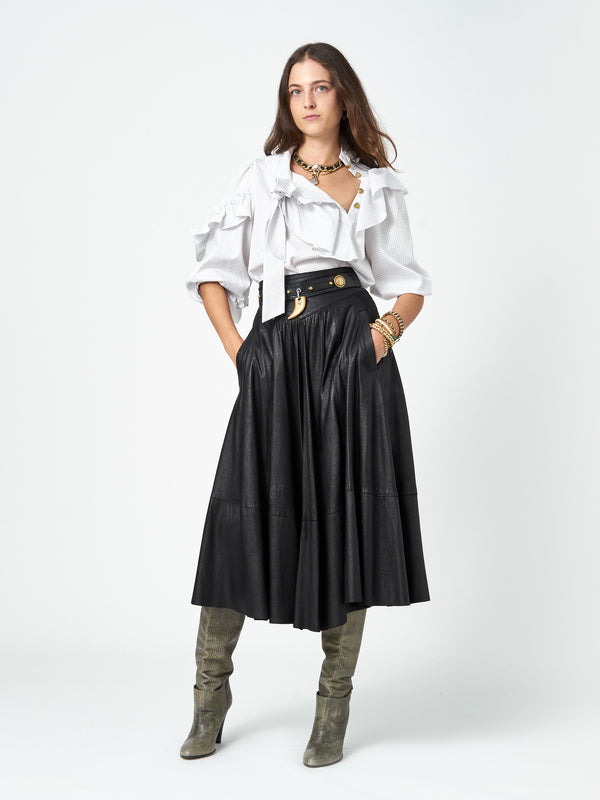 Djuna Leather Skirt