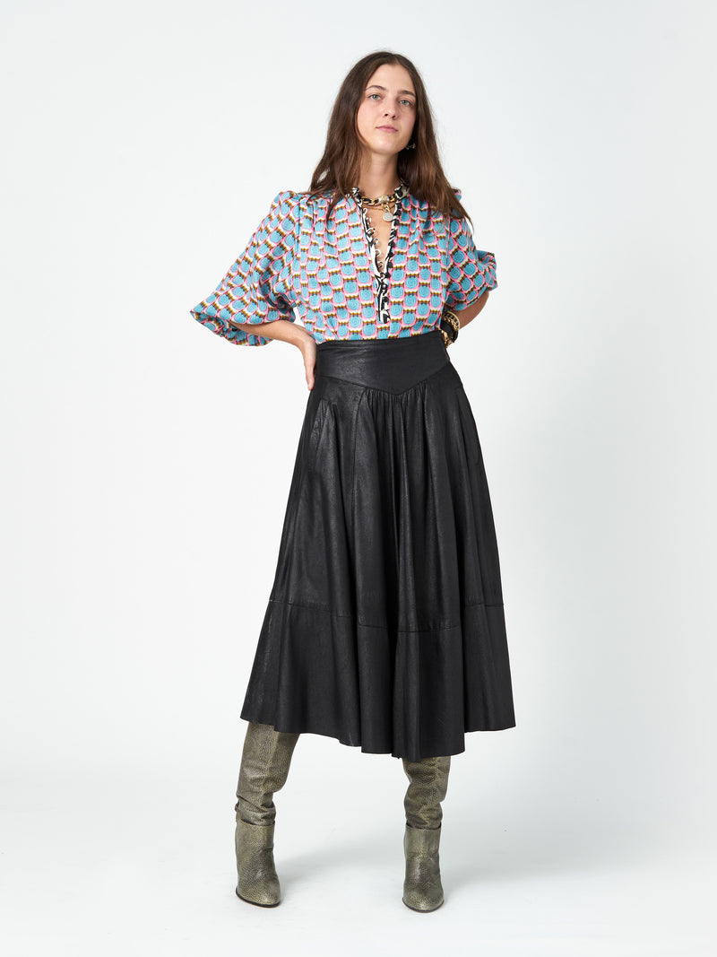 Djuna Leather Skirt - PRE ORDER