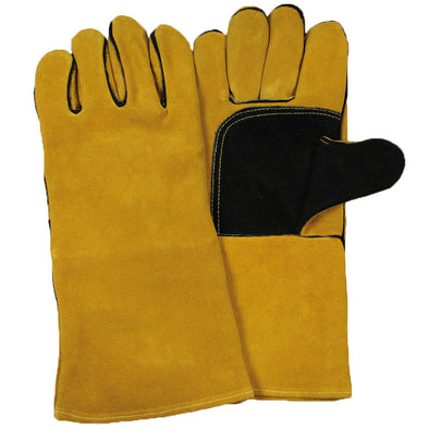 Gold Welders Gauntlet Gloves