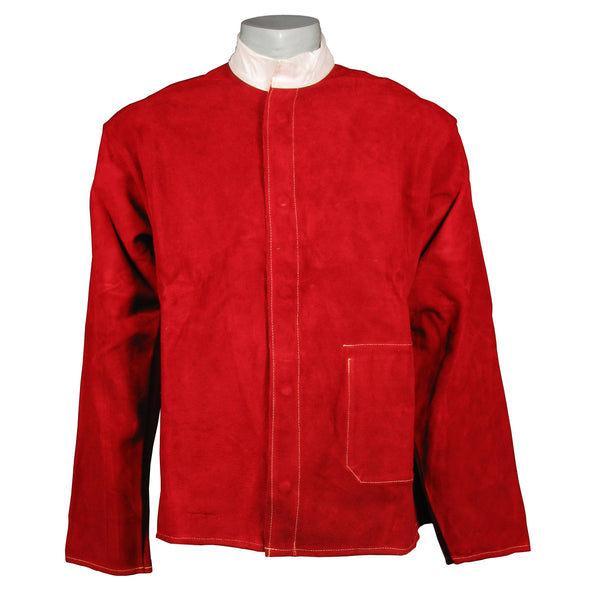 Red Leather Welding Jacket