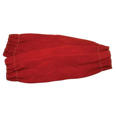 Red Leather Welding Sleeves