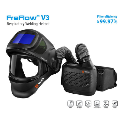 Tecmen V3 Air Fed Helmet With FreFlow PAPR