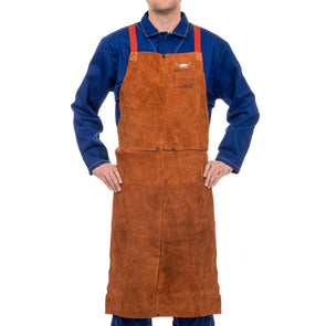 Weldas Lava Brown Welding Bib Apron