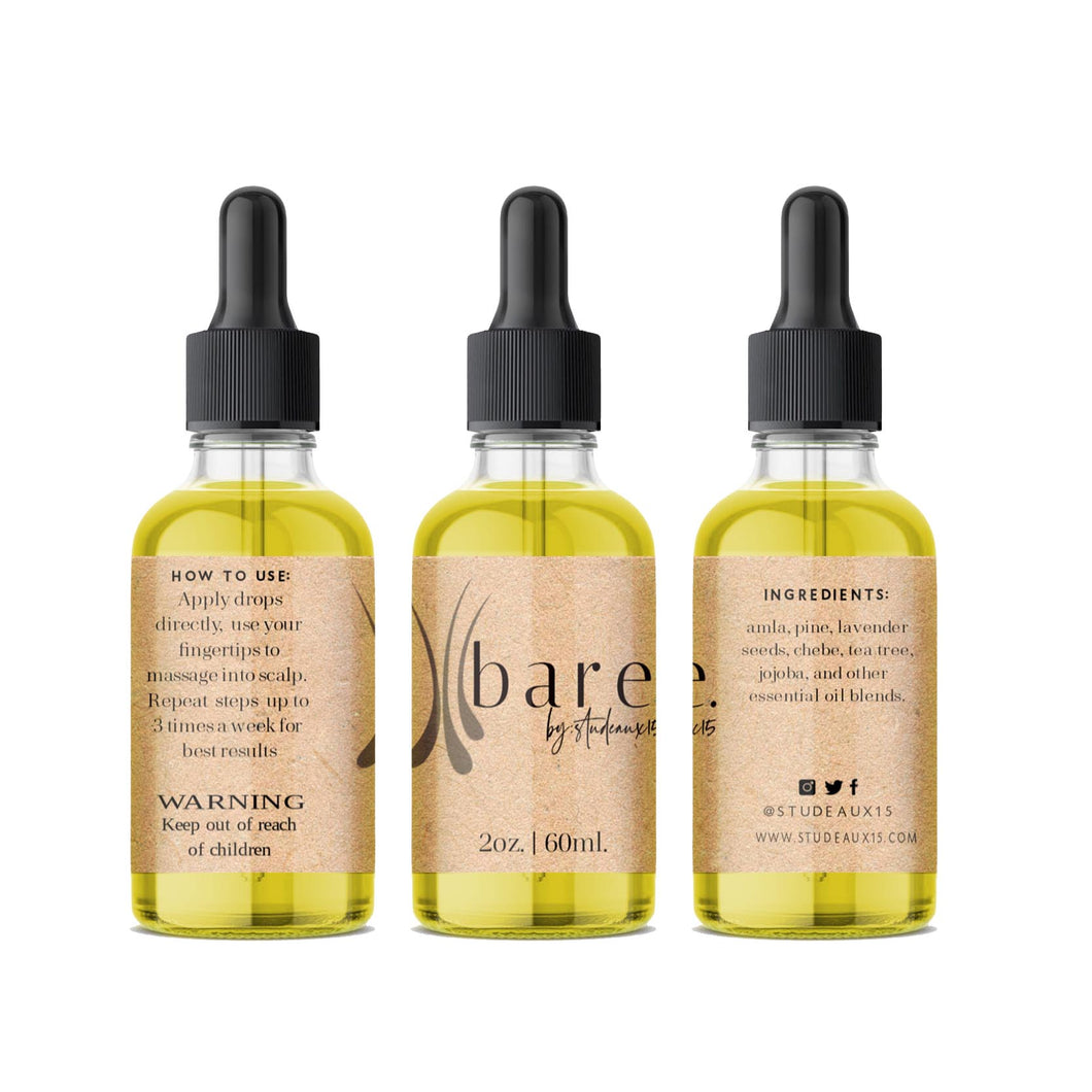 b a r e. Extra Strength Herbal Hair Growth Drops
