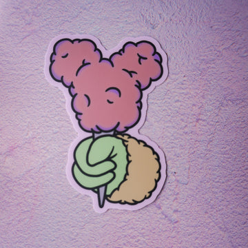 Cotton Candy Sticker