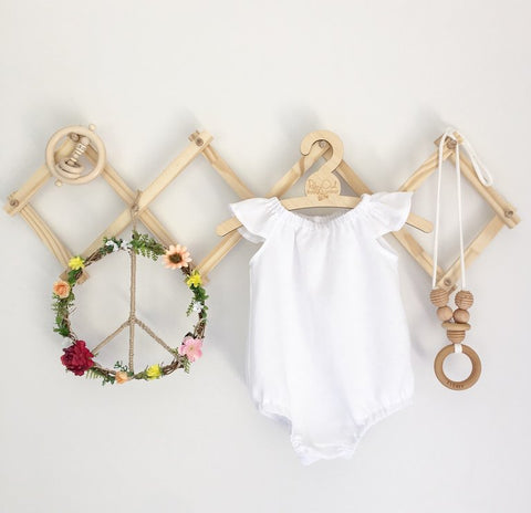 Snow White Linen Romper or Swing top