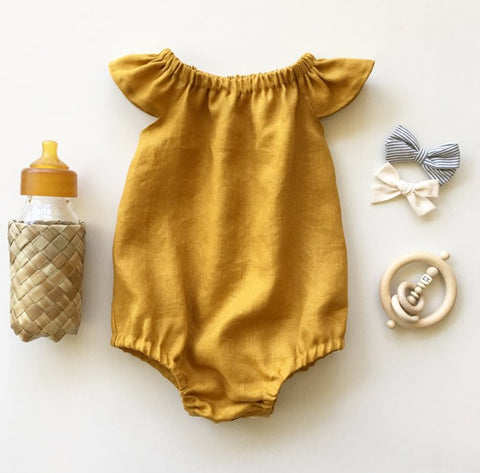 Amber Linen Romper or swing top