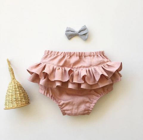Linen Ruffle Bloomers - 11 colours