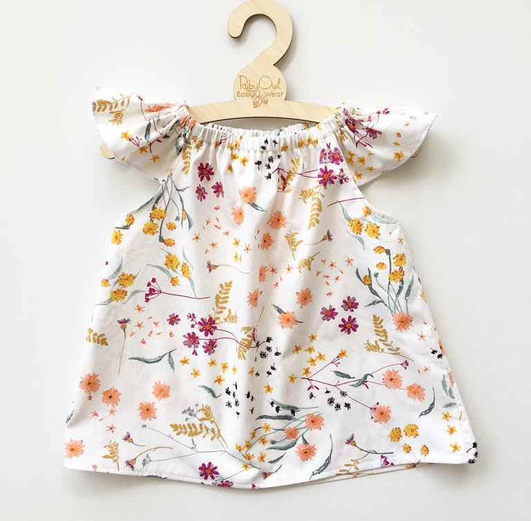 b61c18e26 Marigold Romper or Swing top – Rubyowl Baby and Toddler Wear