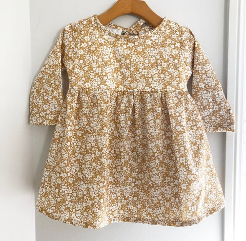 Wheat floral keyhole dress